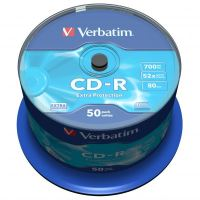 Verbatim CD-R, DataLife, 700 MB, Extra Protection, cake box, 43351, 52x, 50-pack