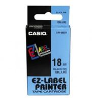 Páska Casio XR-18BU1 18mm černý tisk/modrý podklad
