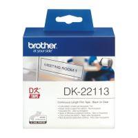 Role filmová Brother DK22113, 62mm x 15.24m, bílá, 1 ks, pro tiskárny štítků