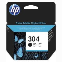 Cartridge HP N9K06AE, black, No.304, originál