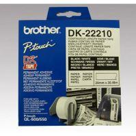 Role papírová Brother 29mm x 30.48m, bílá, 1 ks, DK22210, pro tiskárny štítků