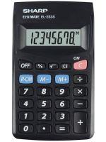 Kalkulačka Sharp EL-233SBBK, černá, kapesní, osmimístná