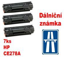 7ks kompatibilní toner HP CE278A, MP print + dálniční známka