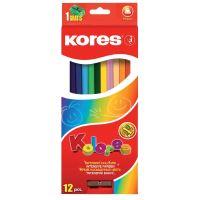 Pastelky 93312 Kores Trojhranné 12 barev