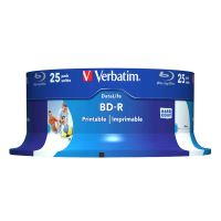 Verbatim 25GB BD-R SL, Hard Coat protective layer, spindle, 43811, 6x, 25-pack