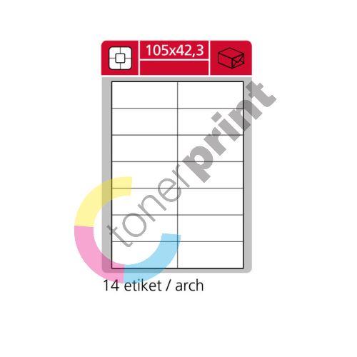 Samolepící etikety SK LABEL 105 x 42,3 mm 1