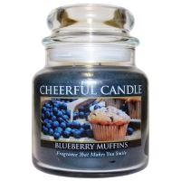 Cheerful Candle Vonná svíčka ve skle Borůvkový Muffin - Blueberry Muffins, 16oz
