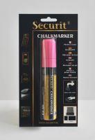 Silný křídový popisovač Securit, šířka hrotu 7-15 mm, růžový, blistr