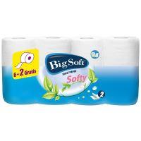 Big Soft Softy parfémovaný toaletní papír bílý 2 vrstvý 200 útržků 6+2 role