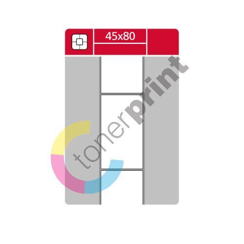 TTR etikety na kotouči 45x80mm, 1000 etiket role 1