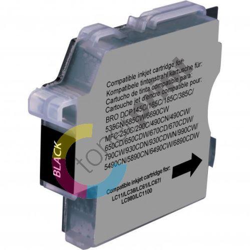 Cartridge Brother DCP 145C / DCP165C, black, UPrint