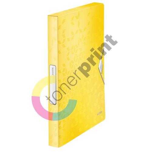 Desky s gumičkou Wow Jumbo, žlutá, 30 mm, PP, A4, LEITZ 1