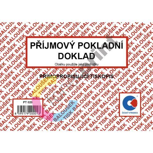 Příjmový pokladní doklad samopropis PT 020 / 50 listů jeden blok 1