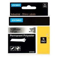 Páska Dymo 5,5m x 9mm, černý tisk/metalický podklad, 18485, S0718170