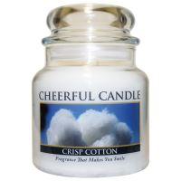 Cheerful Candle Vonná svíčka ve skle Svěží Bavlna - Crisp Cotton, 16oz