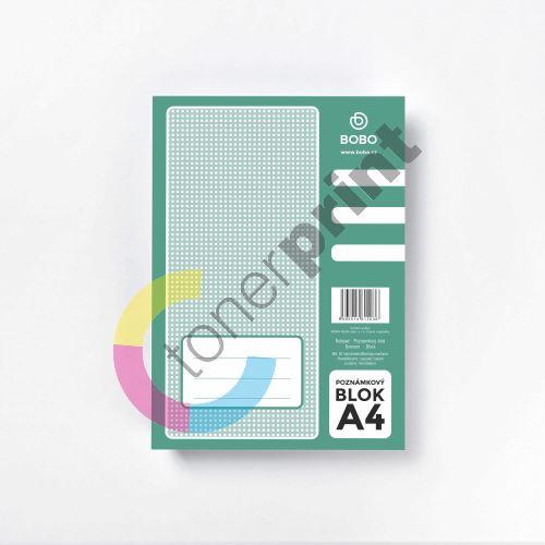 Poznámkový blok Bobo A4, 50 listů, čtvereček 2