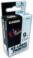 Páska Casio XR-9X1 9mm černý tisk/průhledný podklad