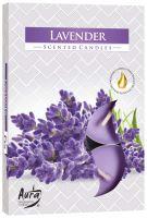 Bispol Aura Lavender s vůní Levandule vonné čajové svíčky 6 kusů