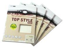 Dopisní papír Top Style LAID - bílá, 100g/m2, 1bal/50ks