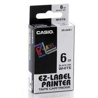 Páska Casio XR-6WE1, 6mm, černý tisk/bílý podklad, originál