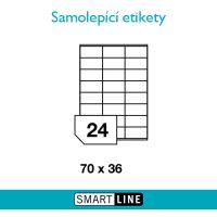 Samolepící bílé etikety Smart Line A4 70 x 36 mm 100 archů