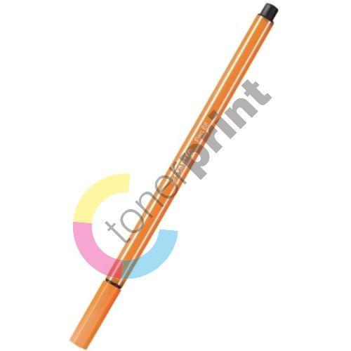 Fix, 1 mm, STABILO Pen 68, oranžovočervená 1