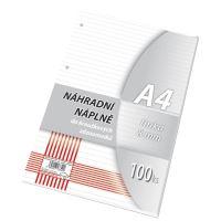 Náhradní vložka do karis bloku A4 linka, 100 listů