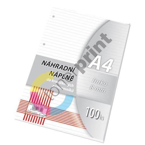 Náhradní vložka do karis bloku A4 linka, 100 listů 1