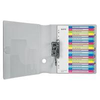 Celoplastové rejstříky Leitz WOW popisovatelné na počítači A4 Maxi, číslo 1-20 2