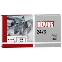 Spojovač Novus Standard 24/6, drátky do sešívaček, 1000ks
