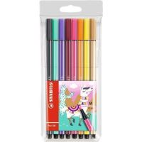 Sada fixů Pen 68 Living Colors, 8 různých barev, Lama, 1 mm, STABILO