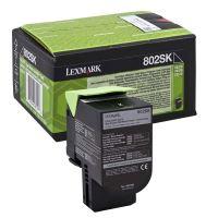 Toner Lexmark 80C2SK0, black, originál