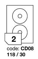 Samolepící etikety Rayfilm Office průměr 118/30 mm 100 archů R0100.CD08A