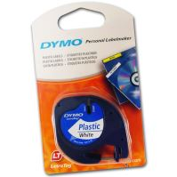 Páska Dymo LetraTag 12mm x 4m plastová bílá, 59422, S0721560