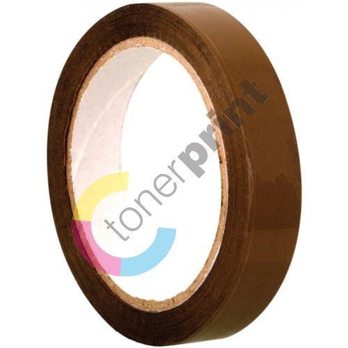Lepící páska 25 mm x 66 m hnědá 1