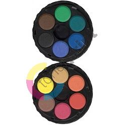 Vodové barvy 22,5mm 12 odstínů,kulaté 1