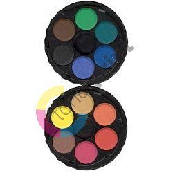 Vodové barvy 22,5mm 6 odstínů, kulaté 1