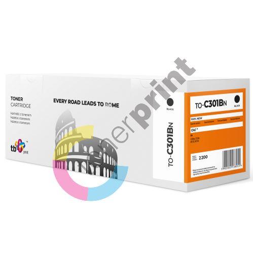 TB toner kompatibilní s OKI C301, 44973536, TO-C301BN BK 1