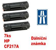 7ks kompatibilní toner HP CF217A MP print + dálniční známka