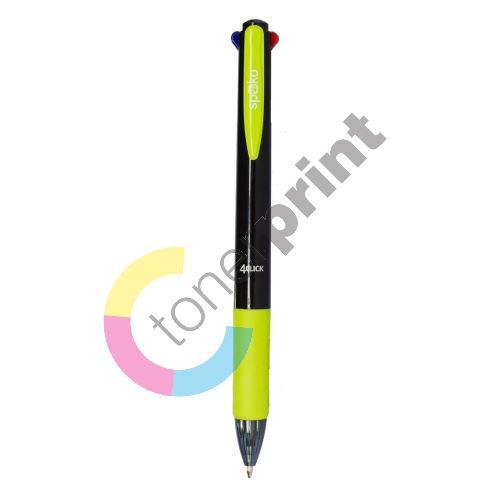 Spoko kuličkové pero 4 CLICK, 4barevné, černé 1