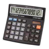 Kalkulačka Citizen CT555N, černá, stolní, dvanáctimístná