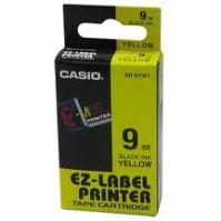 Páska Casio XR-9YW1 9mm černý tisk/žlutý podklad