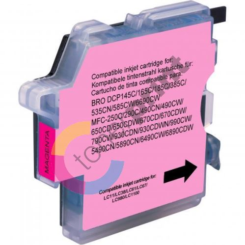 Kompatibilní cartridge Brother LC-980M, DCP 145C, DCP165C, magenta, Uprint 1