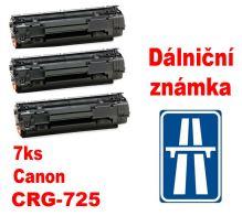 7ks kompatibilní toner Canon CRG-725, MP print + dálniční známka
