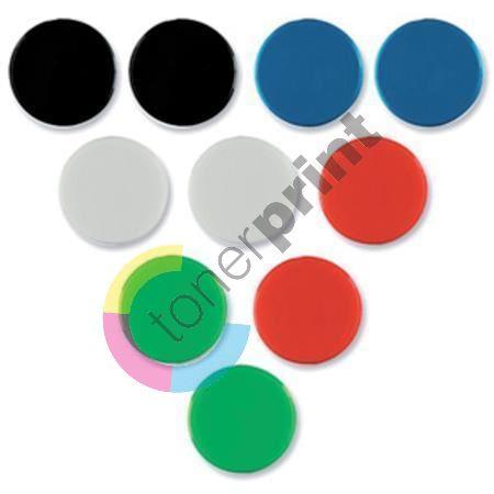 Magnety, červená, 20mm, 8 ks, NOBO 1