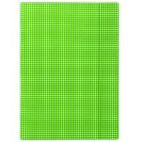 Donau spisové desky s gumičkou, A4, 3 klopy, kostka, zelené