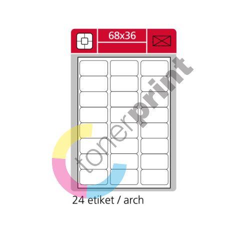 Samolepící etikety SK LABEL 68 x 36 mm 1