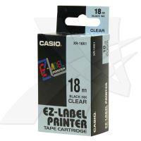 Páska Casio XR-18X1 18mm černý tisk/průhledný podklad