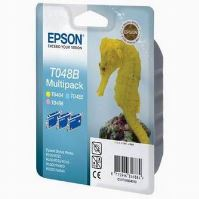 Cartridge Epson C13T048B40 LC/LM/Y Pack, originál