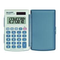 Kalkulačka Sharp EL243S, šedo-modrá, kapesní, osmimístná